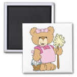 Cute House Cleaning Bear Magnet