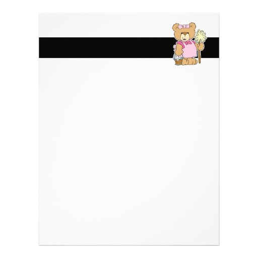 Cute House Cleaning Bear Personalized Letterhead