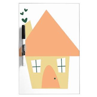 Cute House Dry-Erase Whiteboard