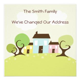 Cute Houses Moving Address Change Custom Announcement