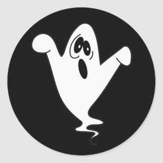 Cute Howling Ghost Halloween Classic Round Sticker