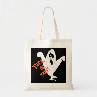Cute Howling Ghost Trick or Treat Budget Tote Bag
