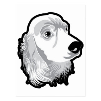 Cute Huge Dog Head by Kong Postcard