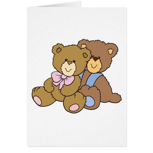 Cute Hugging Friends Bears Card