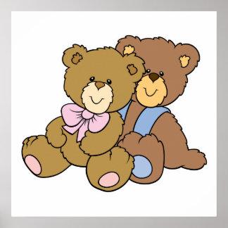 Cute Hugging Friends Bears Poster