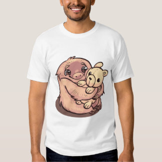 cute hugging sloth tee shirt