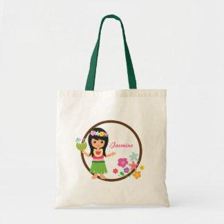Cute Hula Girl Hawaiian Luau Themed Bag
