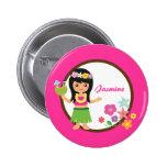 Cute Hula Girl Hawaiian Luau Themed Pin