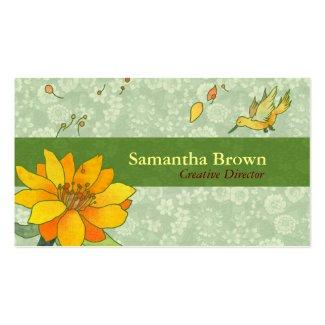Cute Hummingbird Designer Business Cards
