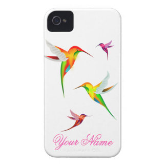 Cute Hummingbirds in Bright Colors - Bird Watching iPhone 4 Case