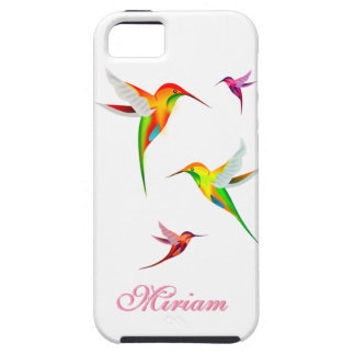 Cute Hummingbirds in Bright Colors - Bird Watching iPhone SE/5/5s Case