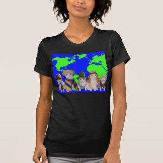 Cute, Humorous Cats/Kitties Around the World Tshirt