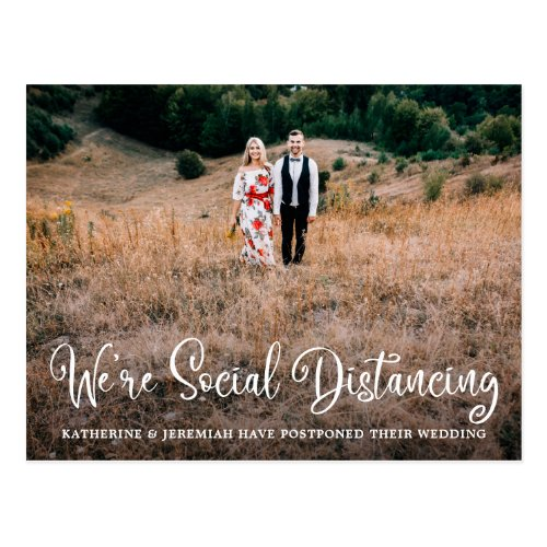 Cute Humorous Wedding Postponement Postcard