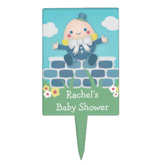 Cute Humpty Dumpty Baby Shower Cake Pick