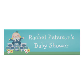 Cute Humpty Dumpty Baby Shower Party Banner Poster