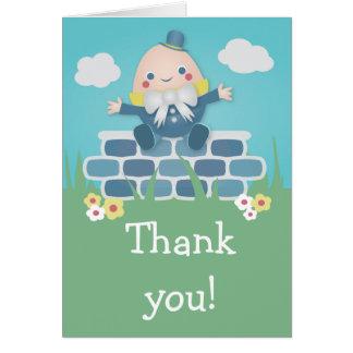 Cute Humpty Dumpty Baby Shower Thank You Card