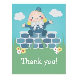 Cute Humpty Dumpty Baby Shower Thank You Postcard