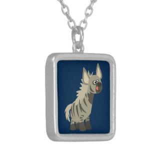 Cute Hungry Cartoon Striped Hyena Necklace