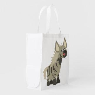 Cute Hungry Cartoon Striped Hyena Reusable Bag Reusable Grocery Bag