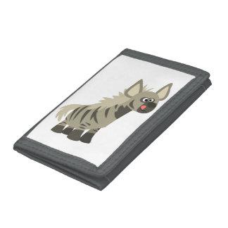 Cute Hungry Cartoon Striped Hyena Wallet