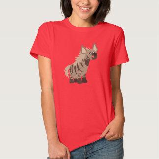 Cute Hungry Cartoon Striped Hyena Women T-Shirt