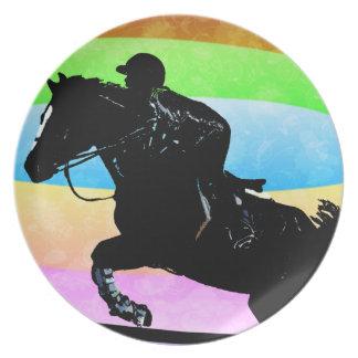 Cute Hunter Jumper Horse Plate