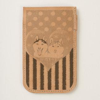Cute Huskies pink pattern iPhone 6/6S Case