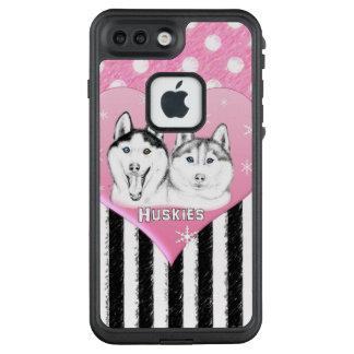 Cute Huskies pink pattern LifeProof FRĒ iPhone 7 Plus Case