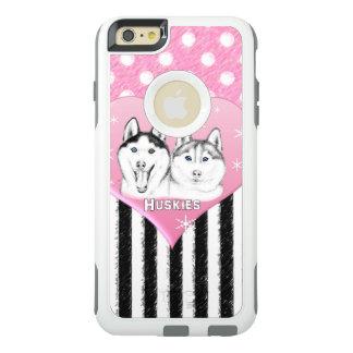 Cute Huskies pink pattern OtterBox iPhone 6/6s Plus Case