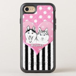 Cute Huskies pink pattern OtterBox Symmetry iPhone 8/7 Case