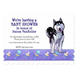Cute Husky Baby Shower Card