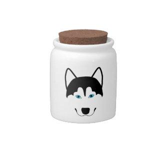 Cute Husky dog breed image Candy Dish