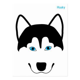 Cute Husky dog breed image Postcard
