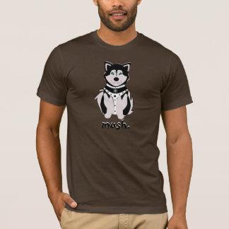Cute Husky Sled Dog In Harness T-Shirt