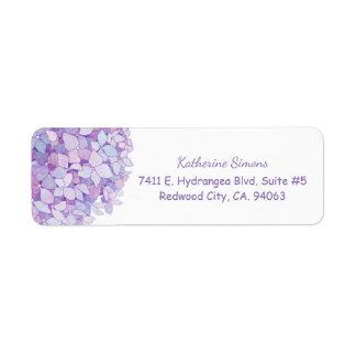 Cute Hydrangea Bloom Return Address Label
