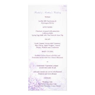 Cute Hydrangeas Wedding Reception Menus (4x9)