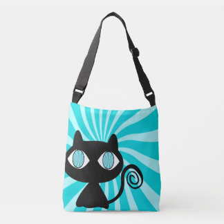 Cute Hypnotic Cat Crossbody Bag