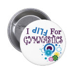 Cute I Flip for Gymnastics Apparel and Gifts Buttons