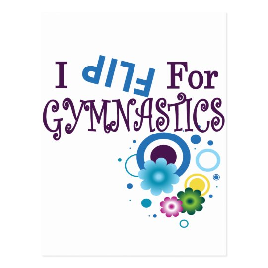 Cute I Flip for Gymnastics Apparel and Gifts Postcard