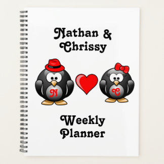 Cute I Found My Penguin Mate for Life Red Heart Planner