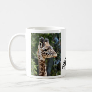 Cute, i heart giraffes, w photos of mom & baby coffee mug