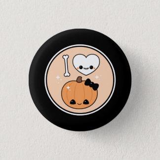 Cute I Heart Halloween Pinback Button