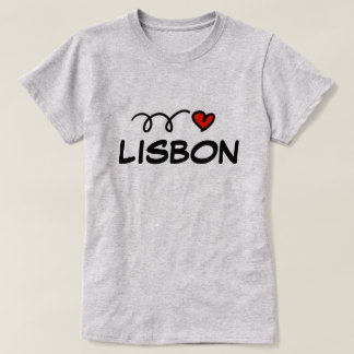 Cute I heart Lisbon t shirt for women