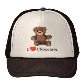 Cute I Heart (Love) Chocolate Teddy Bear Trucker Hat