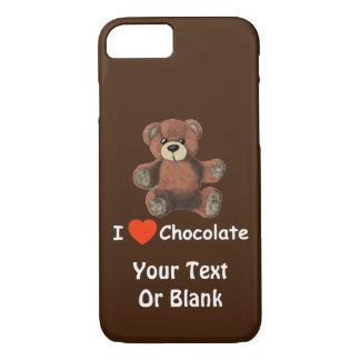 Cute I Heart (Love) Chocolate Teddy Bear iPhone 7 Case