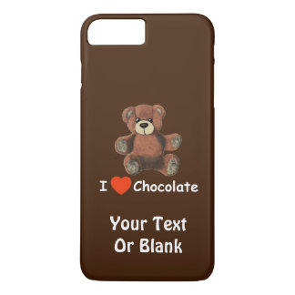 Cute I Heart (Love) Chocolate Teddy Bear iPhone 7 Plus Case
