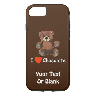 Cute I Heart (Love) Chocolate Teddy Bear iPhone 8/7 Case