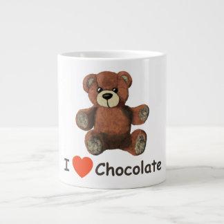 Cute I Heart (Love) Chocolate Teddy Bear Large Coffee Mug