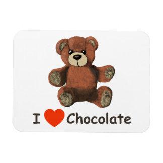 Cute I Heart (Love) Chocolate Teddy Bear Magnet