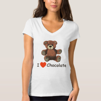 Cute I Heart (Love) Chocolate Teddy Bear T-Shirt